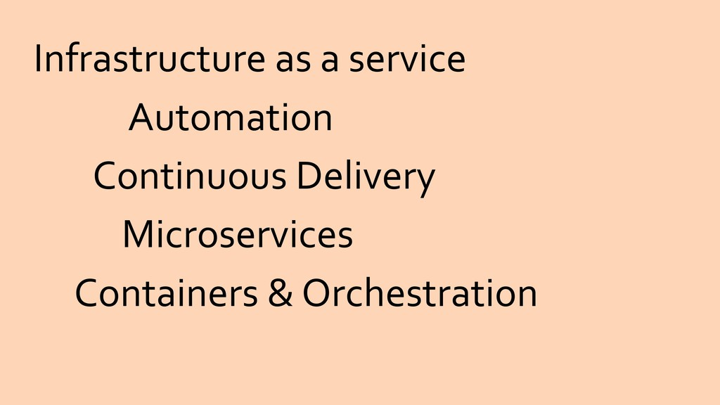 Infrastructure as a service Microservices Conta...
