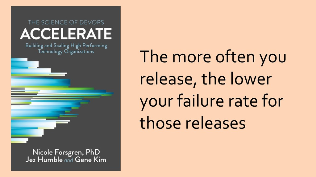 The more often you release, the lower your fail...