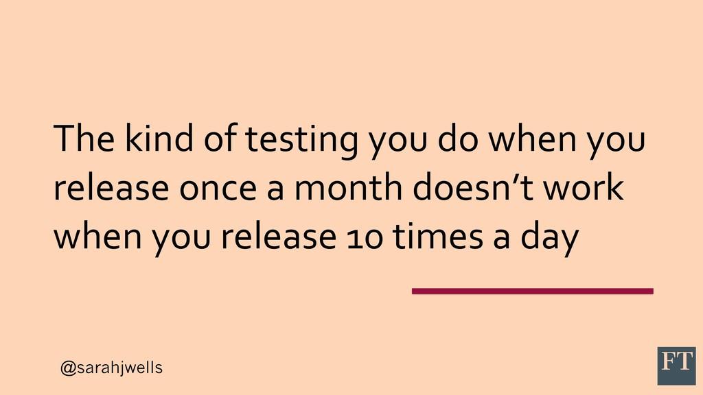 @sarahjwells The kind of testing you do when yo...