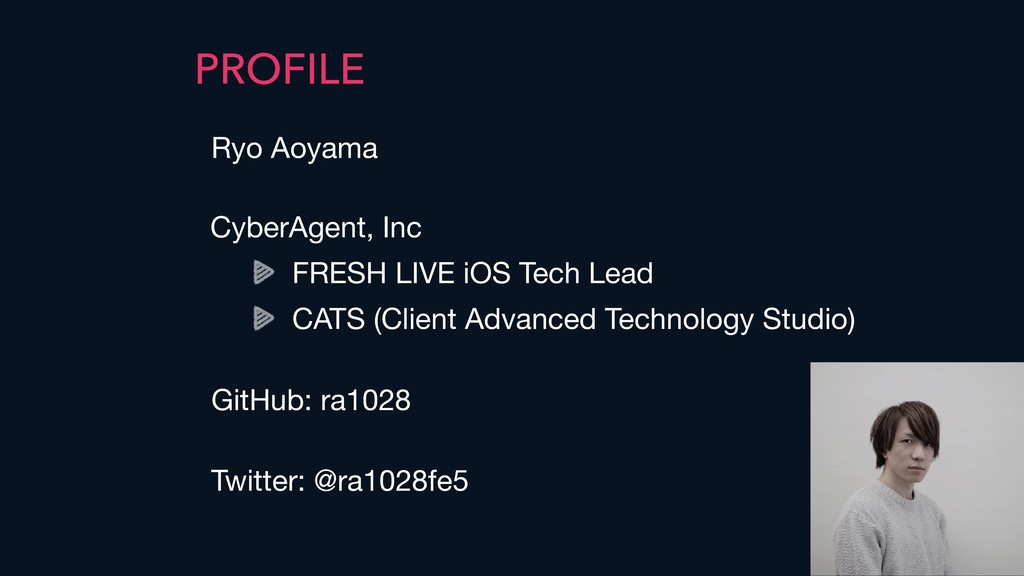 PROFILE Ryo Aoyama CyberAgent, Inc  FRESH LIVE ...