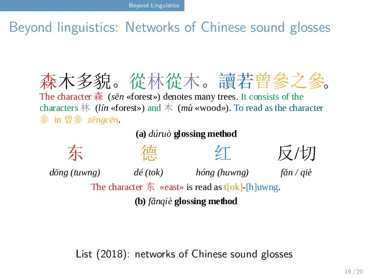Beyond Linguistics Beyond linguistics: Networks...