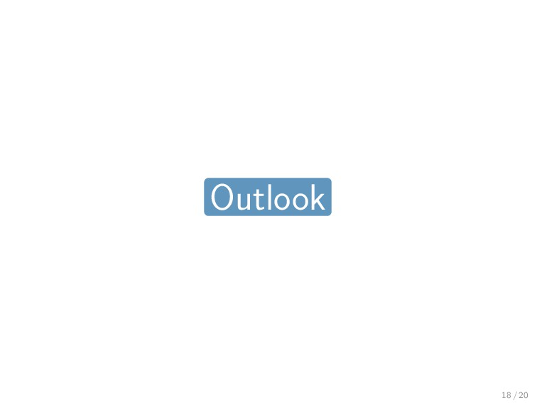 Outlook 18 / 20