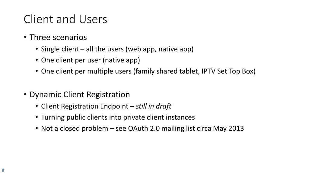 Client and Users • Three scenarios • Single cli...