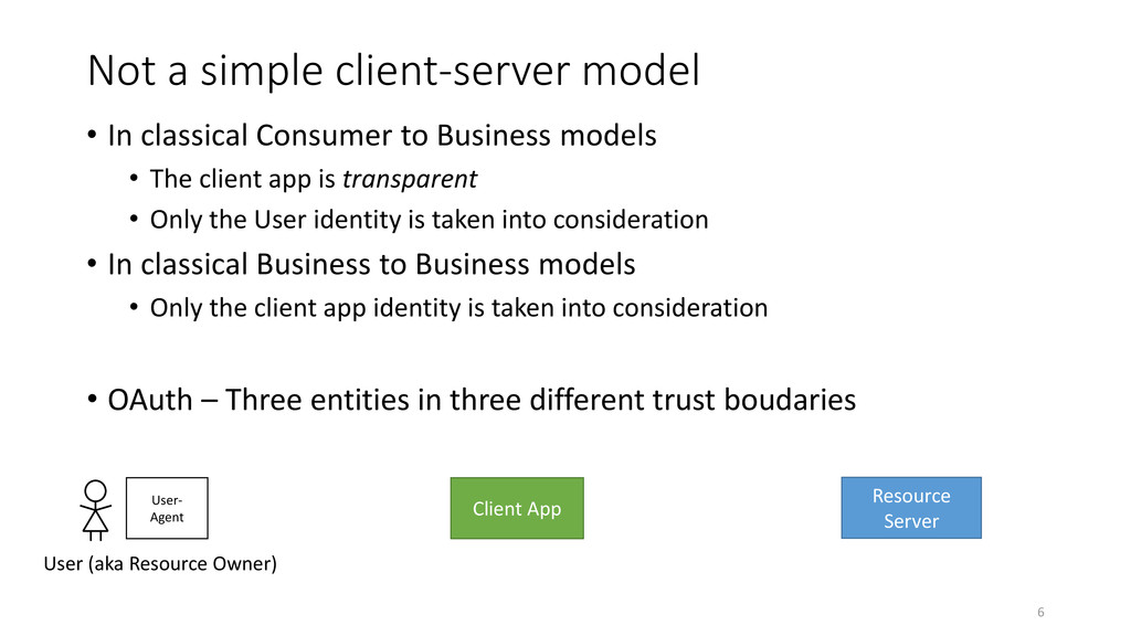 Not a simple client-server model • In classical...