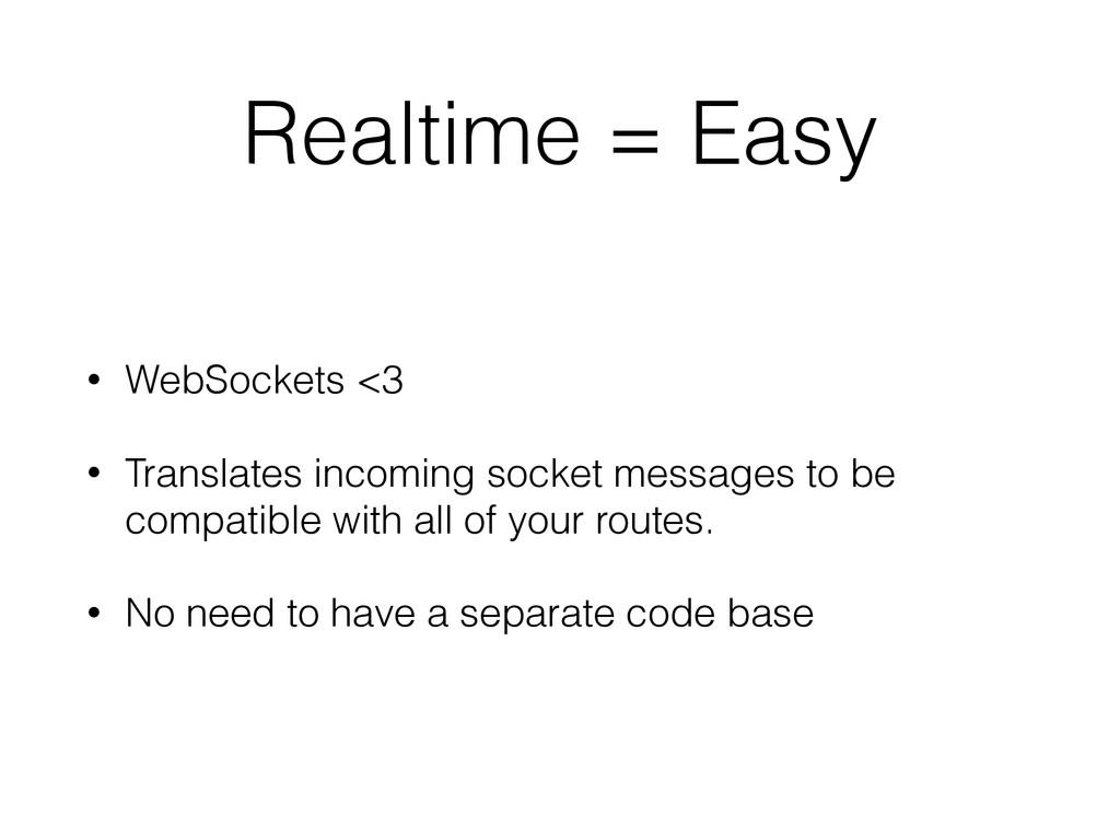 Realtime = Easy • WebSockets <3 • Translates in...