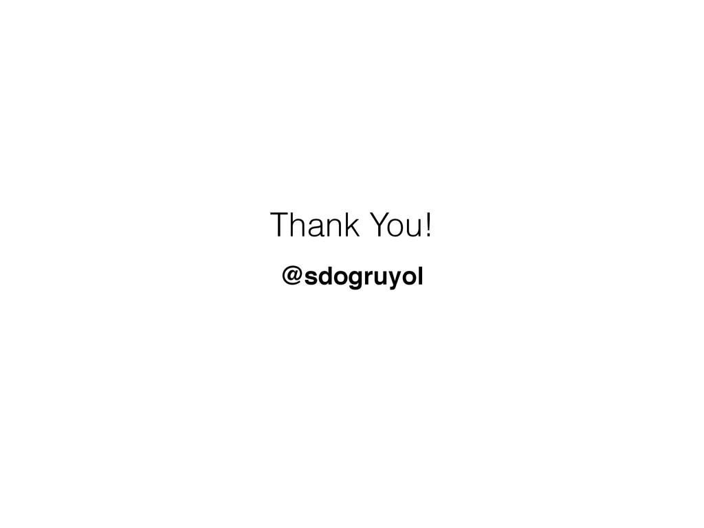 Thank You! @sdogruyol