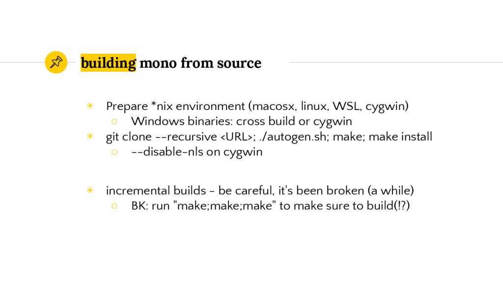 building mono from source ◉ Prepare *nix enviro...