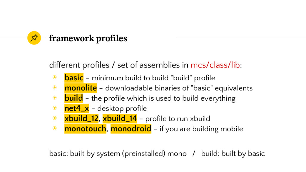 framework profiles different profiles / set of ...