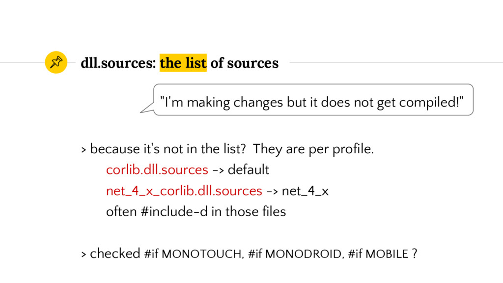 dll.sources: the list of sources > because it's...