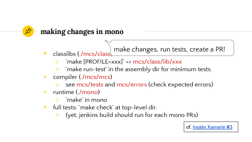 making changes in mono ◉ classlibs (./mcs/class...