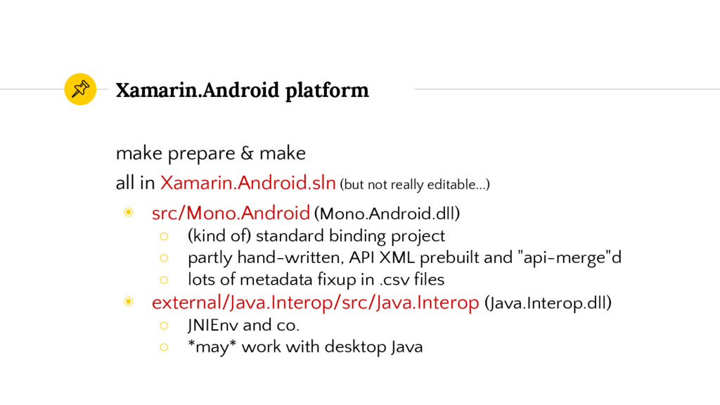 Xamarin.Android platform make prepare & make al...
