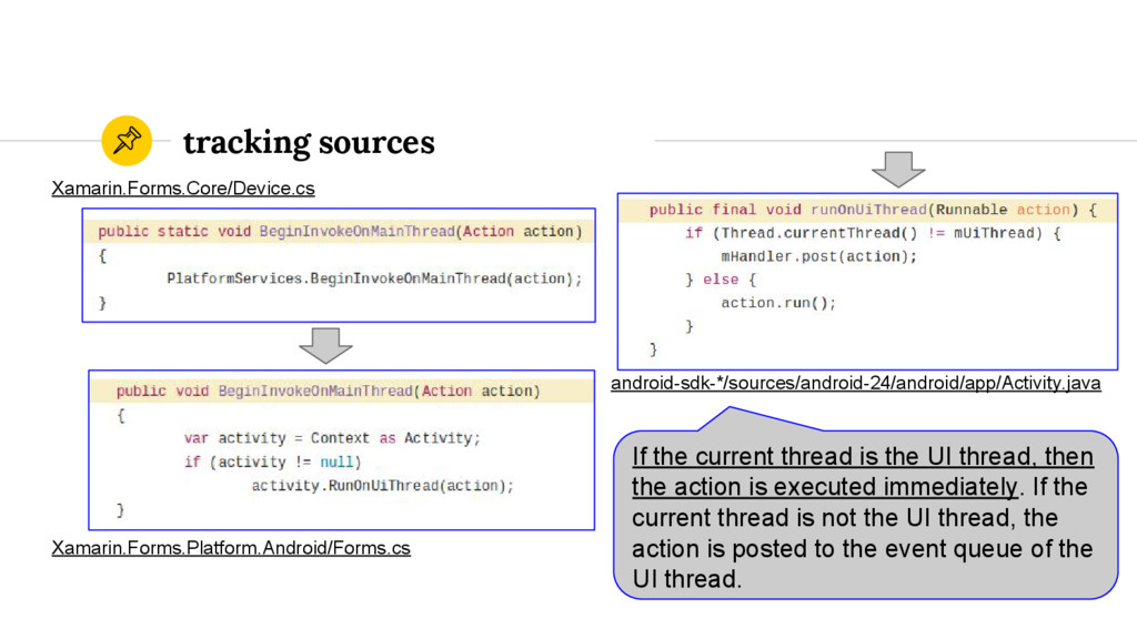 tracking sources If the current thread is the U...