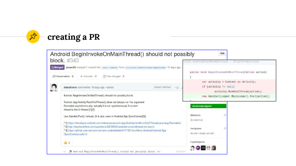 creating a PR