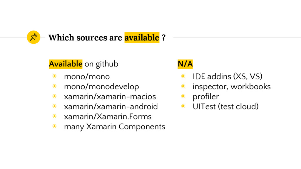 Available on github ◉ mono/mono ◉ mono/monodeve...
