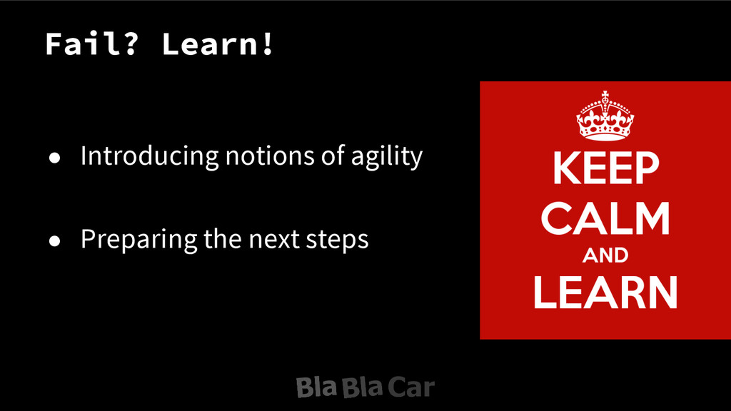 ● Introducing notions of agility ● Preparing th...