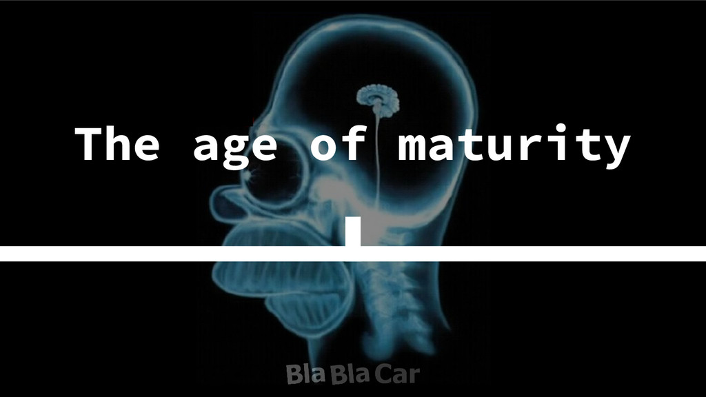 The age of maturity