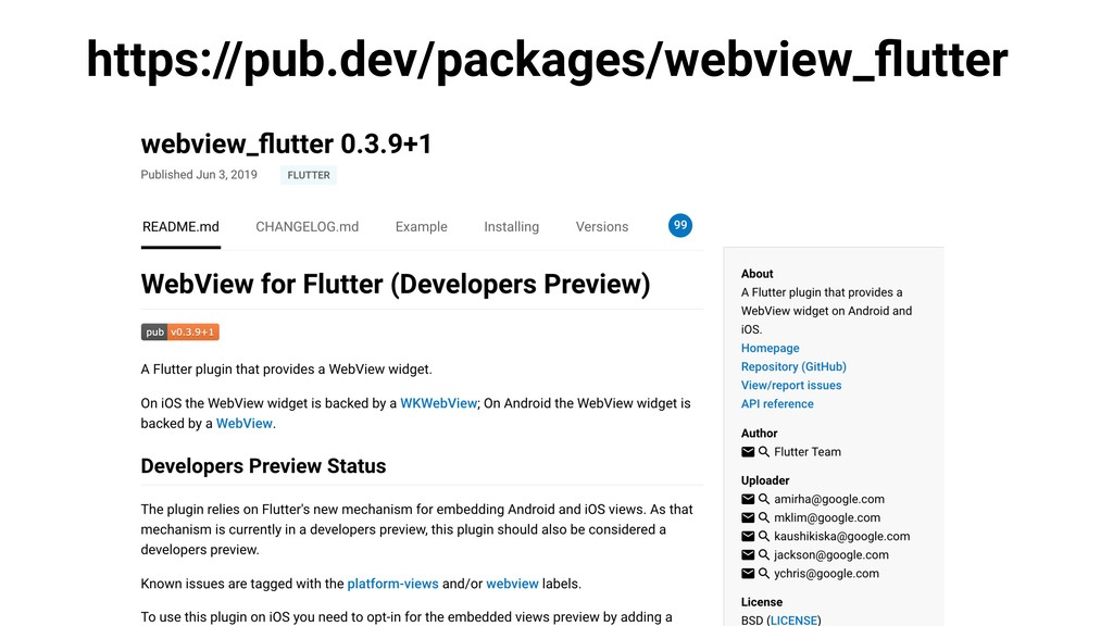 https://pub.dev/packages/webview_flutter