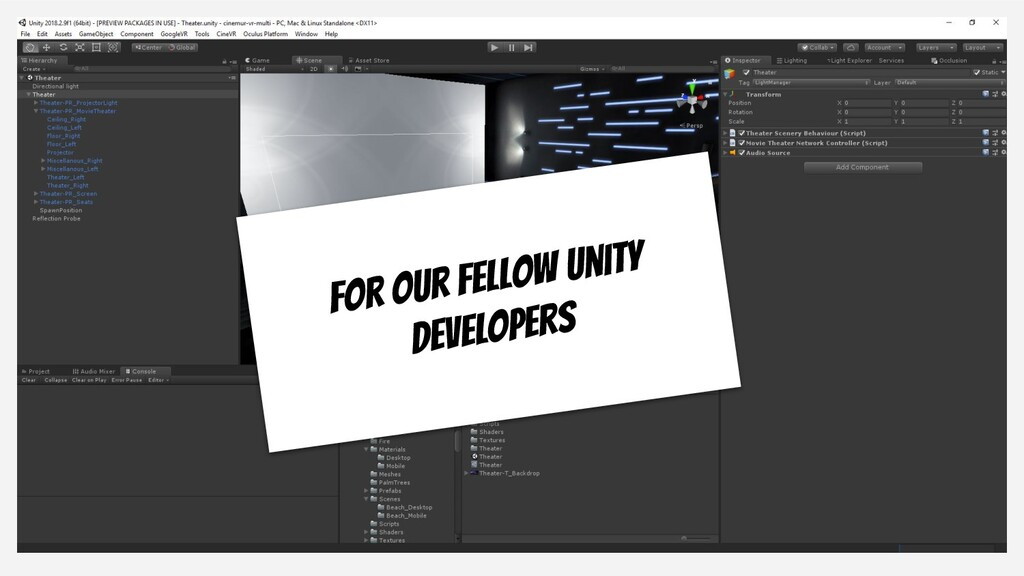 For our fellow Unity developers