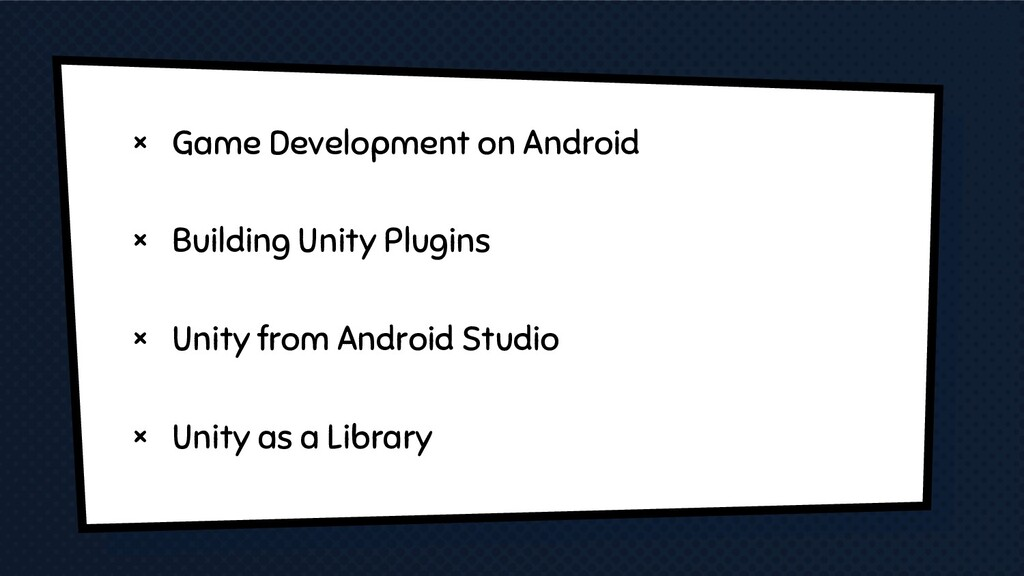 × Game Development on Android × Building Unity ...