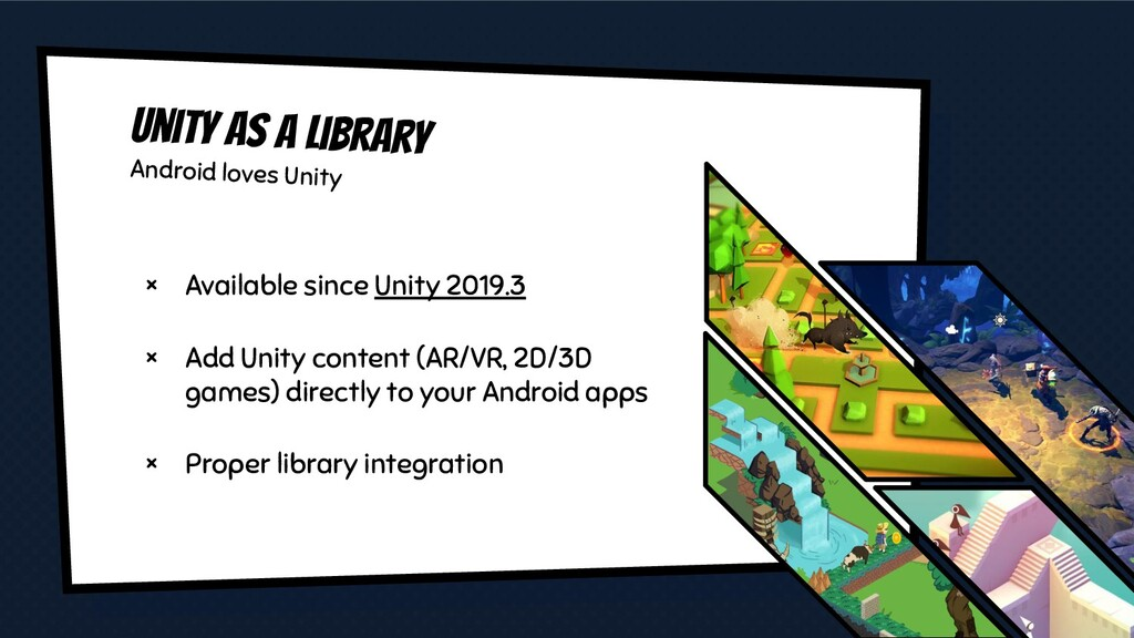 Unity as a library Android loves Unity × Availa...