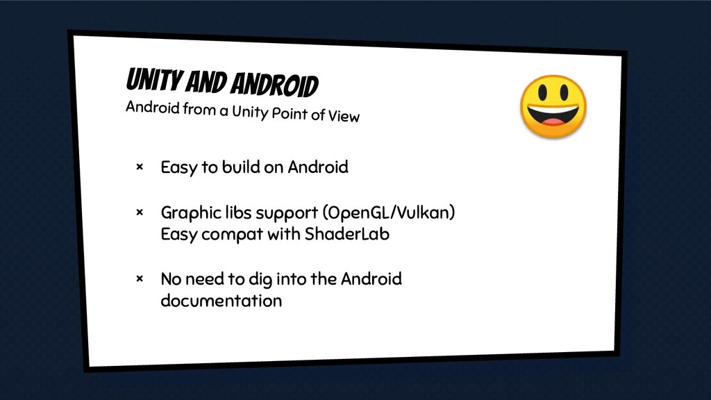 Unity and android Android from a Unity Point of...