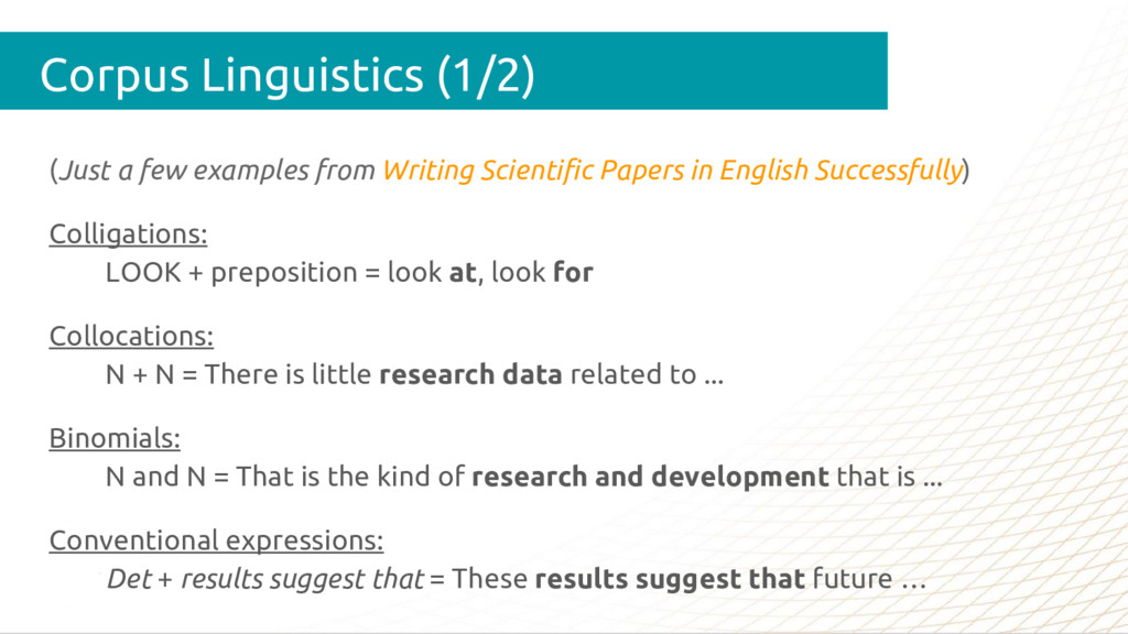 (Just a few examples from Writing Scientific Pa...