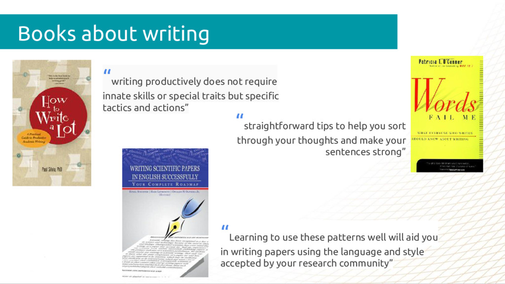 """Books about writing """"writing productively does ..."""
