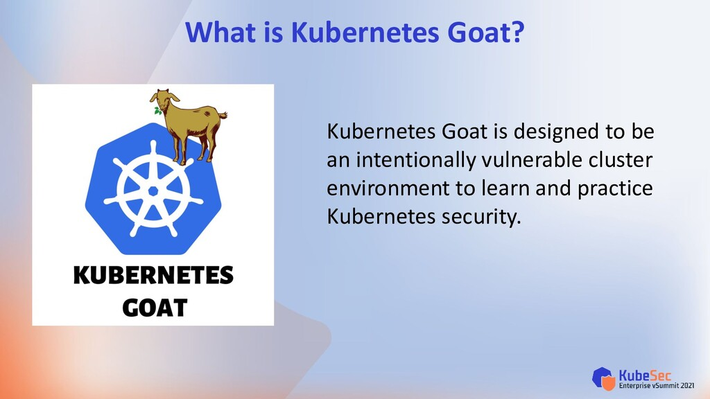 Kubernetes Goat is designed to be an intentiona...