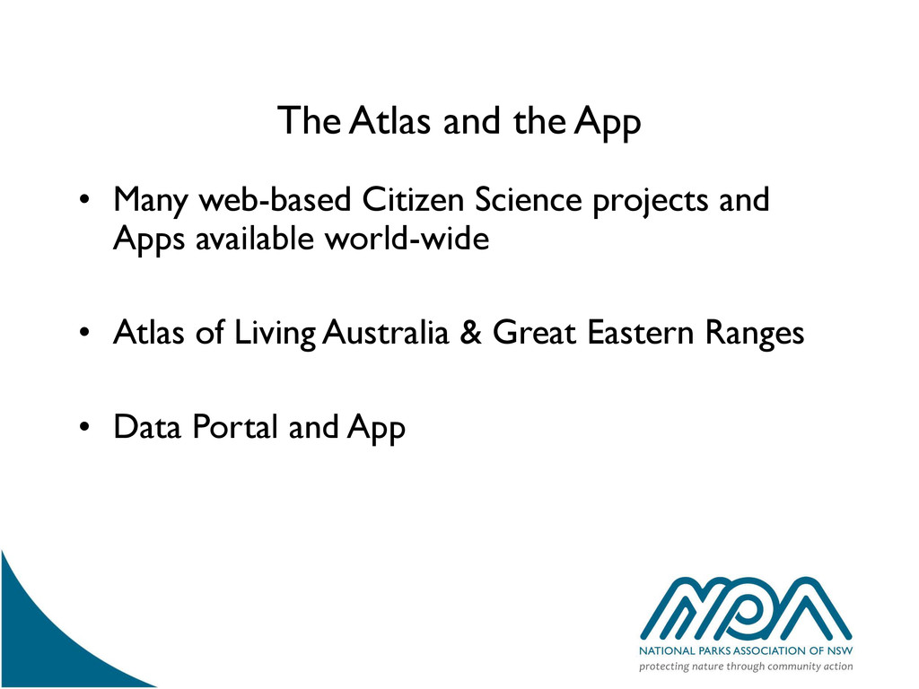 The Atlas and the App • Many web-based Citizen ...