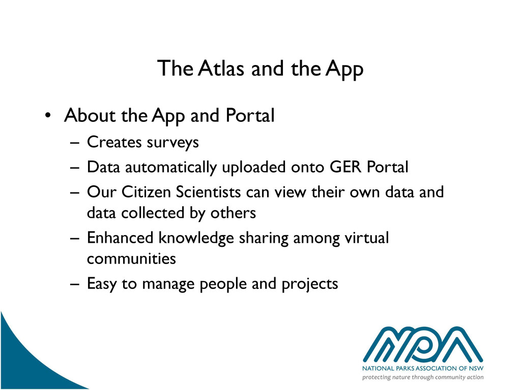 The Atlas and the App • About the App and Porta...