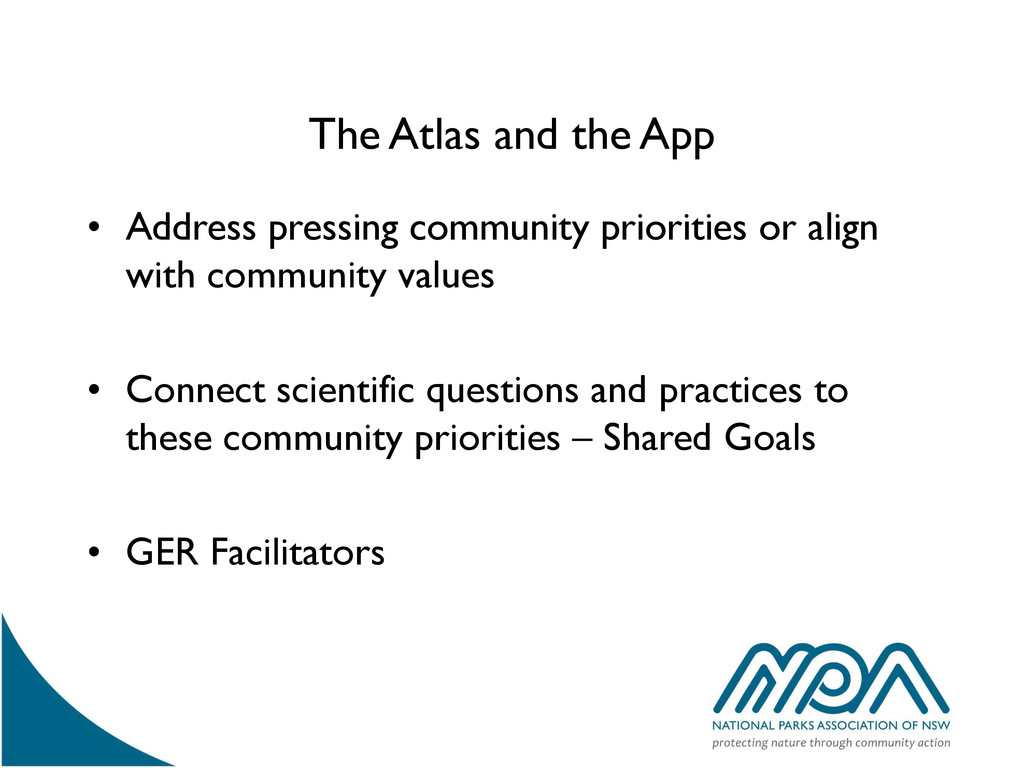 The Atlas and the App • Address pressing commun...