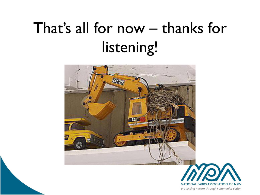That's all for now – thanks for listening!