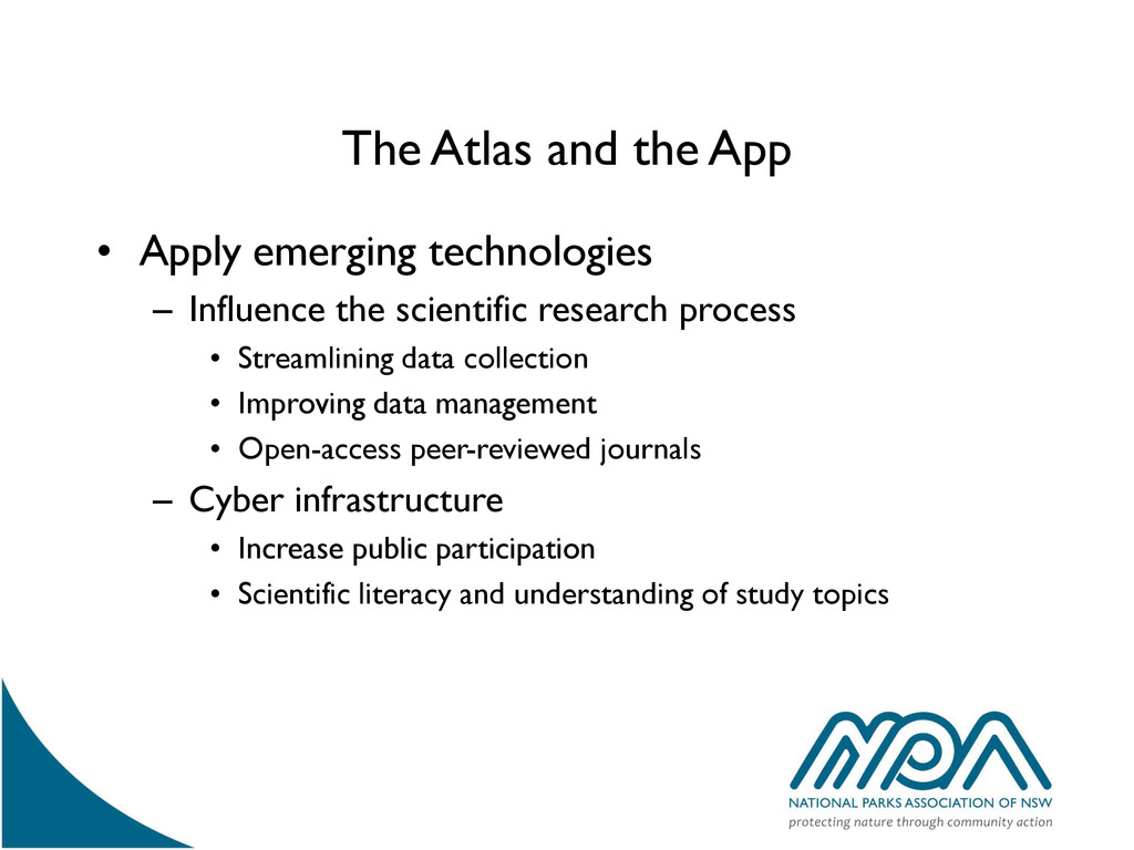 The Atlas and the App • Apply emerging technolo...