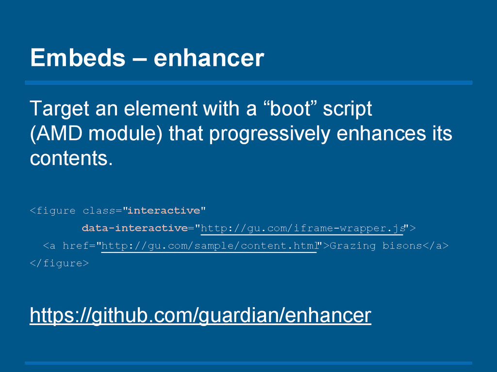 "Embeds – enhancer Target an element with a ""boo..."