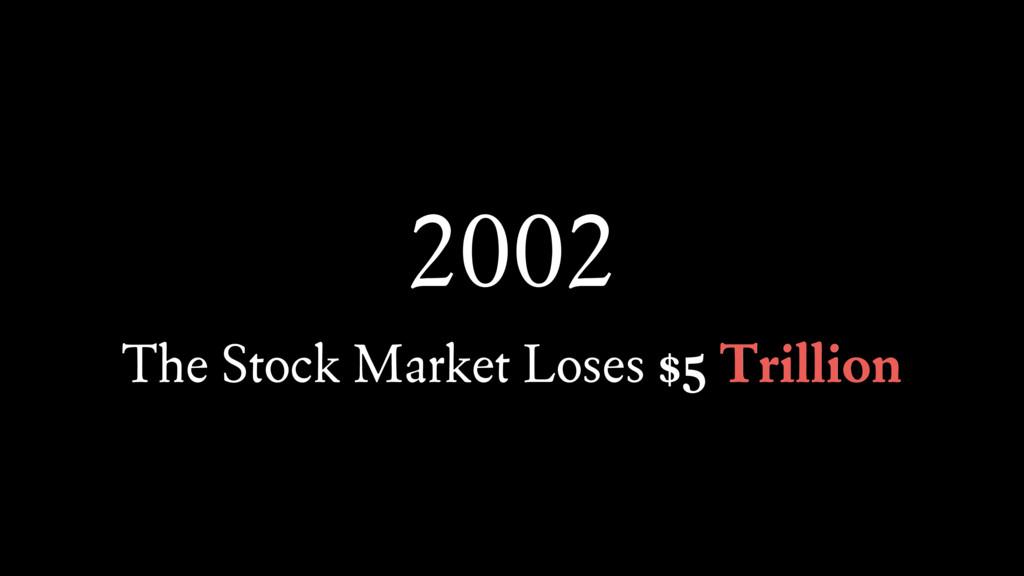 2002 The Stock Market Loses $5 Trillion Trillion