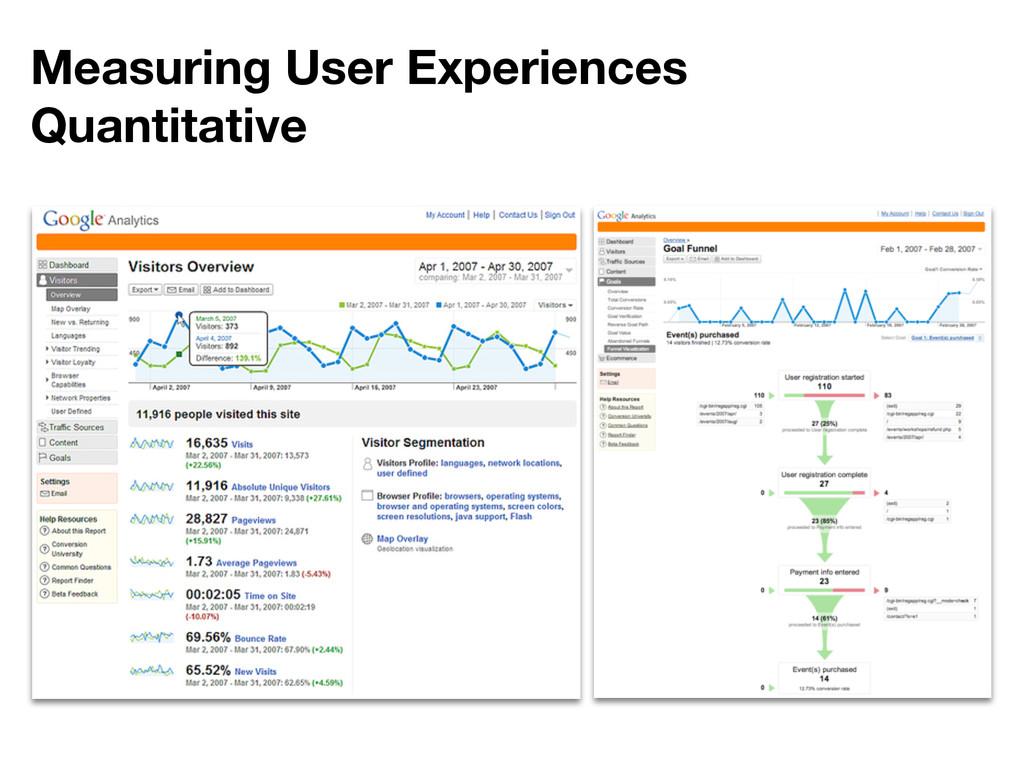 Measuring User Experiences Quantitative