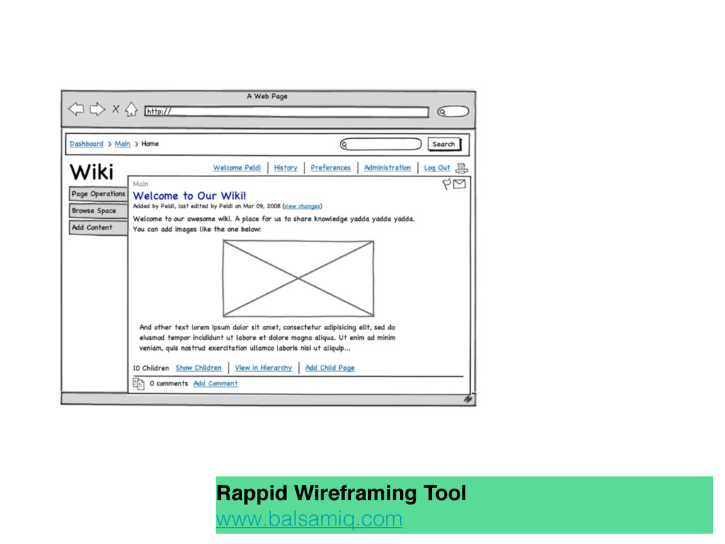 Rappid Wireframing Tool www.balsamiq.com