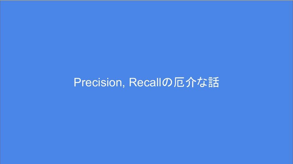 Precision, Recallの厄介な話