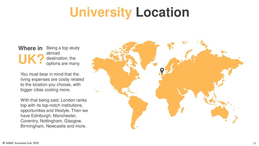University Location You must bear in mind that ...