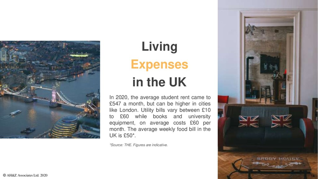 Living Expenses in the UK In 2020, the average ...