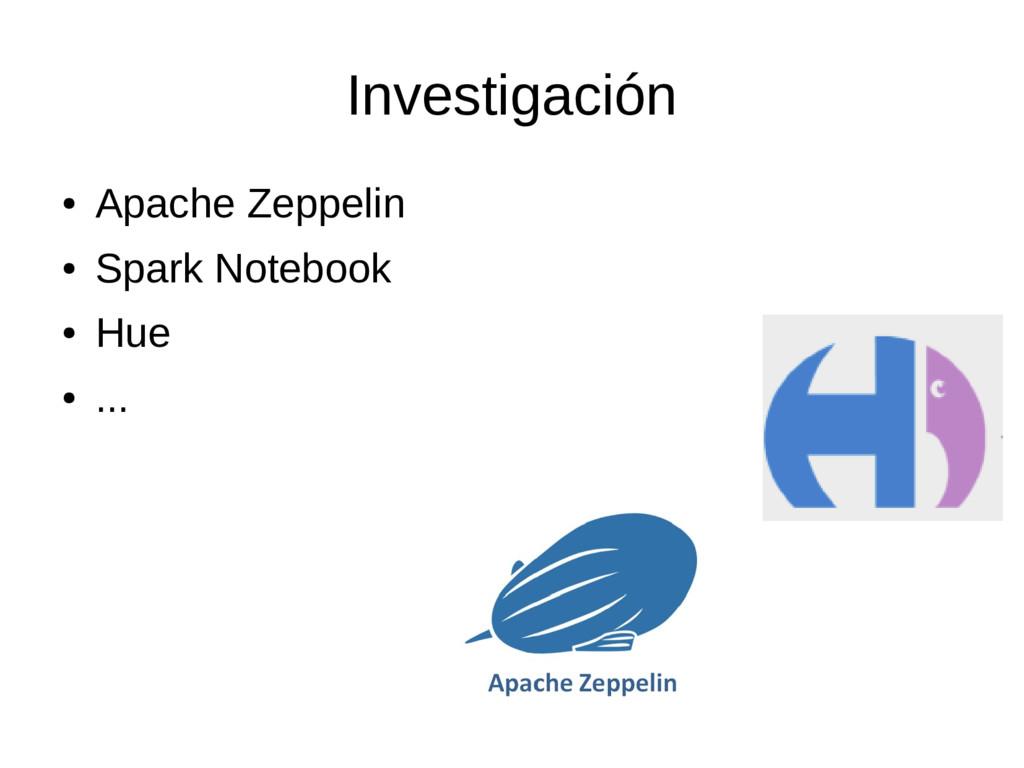 Investigación ● Apache Zeppelin ● Spark Noteboo...