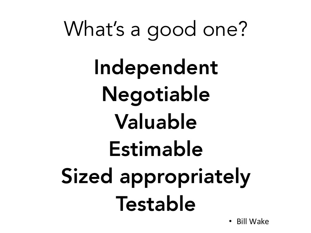 What's a good one? Independent Negotiable Val...