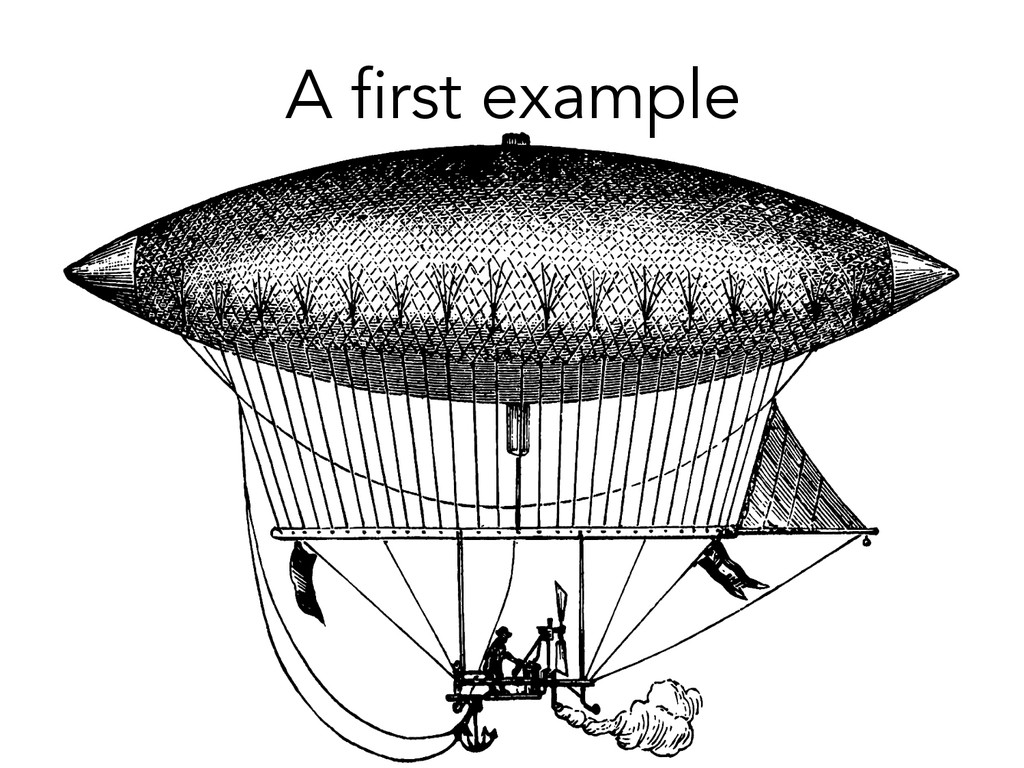 A first example