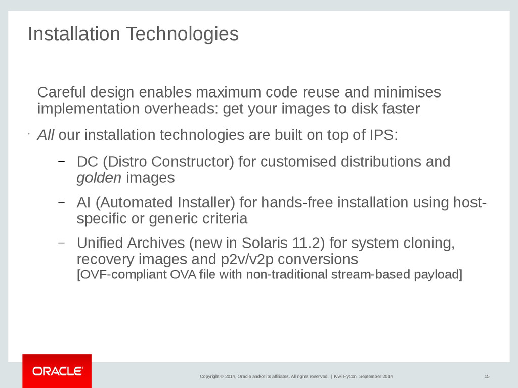 15 Copyright © 2014, Oracle and/or its affiliat...