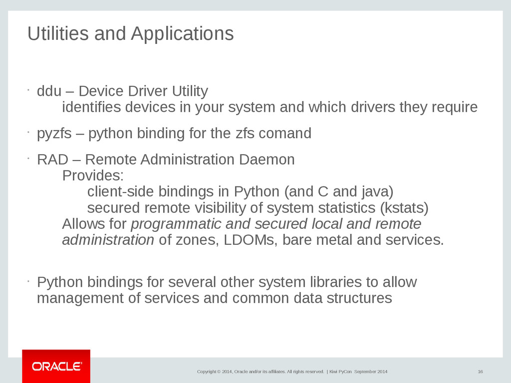 16 Copyright © 2014, Oracle and/or its affiliat...