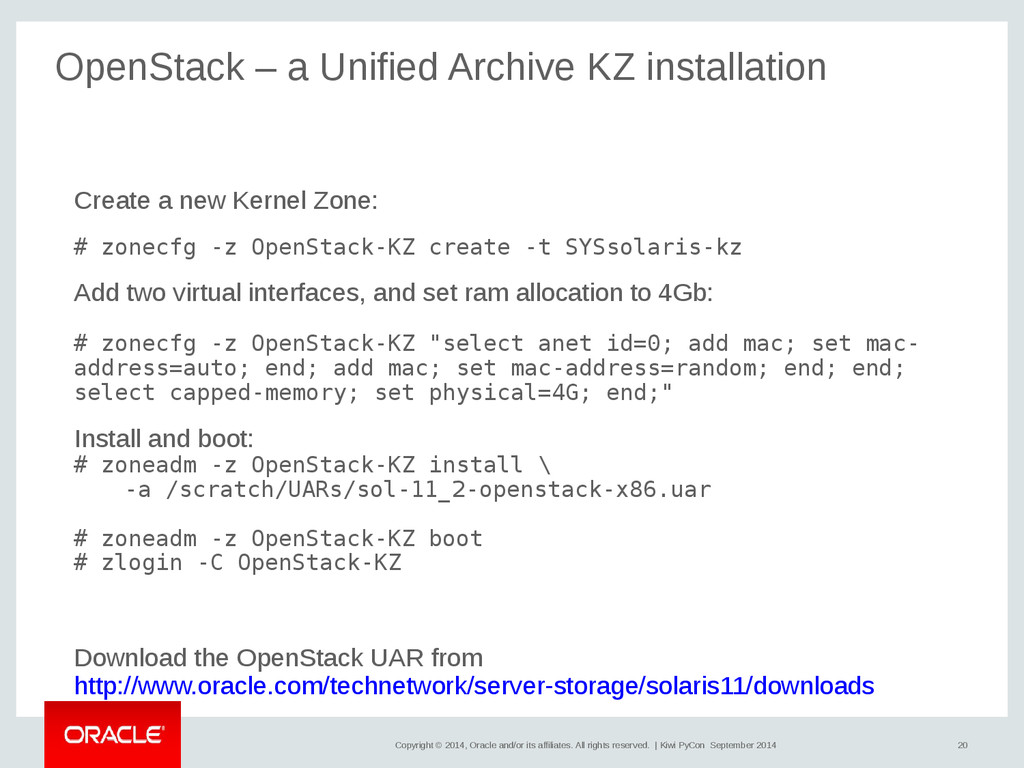 20 Copyright © 2014, Oracle and/or its affiliat...