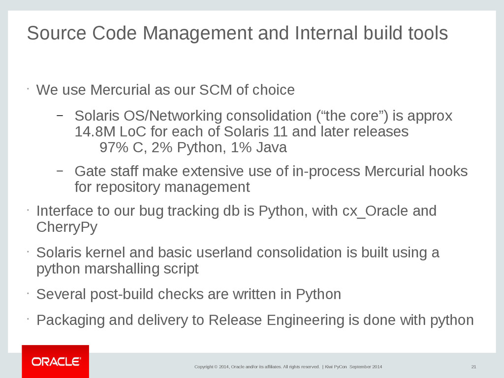 21 Copyright © 2014, Oracle and/or its affiliat...