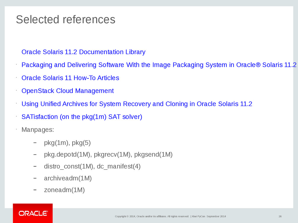 26 Copyright © 2014, Oracle and/or its affiliat...