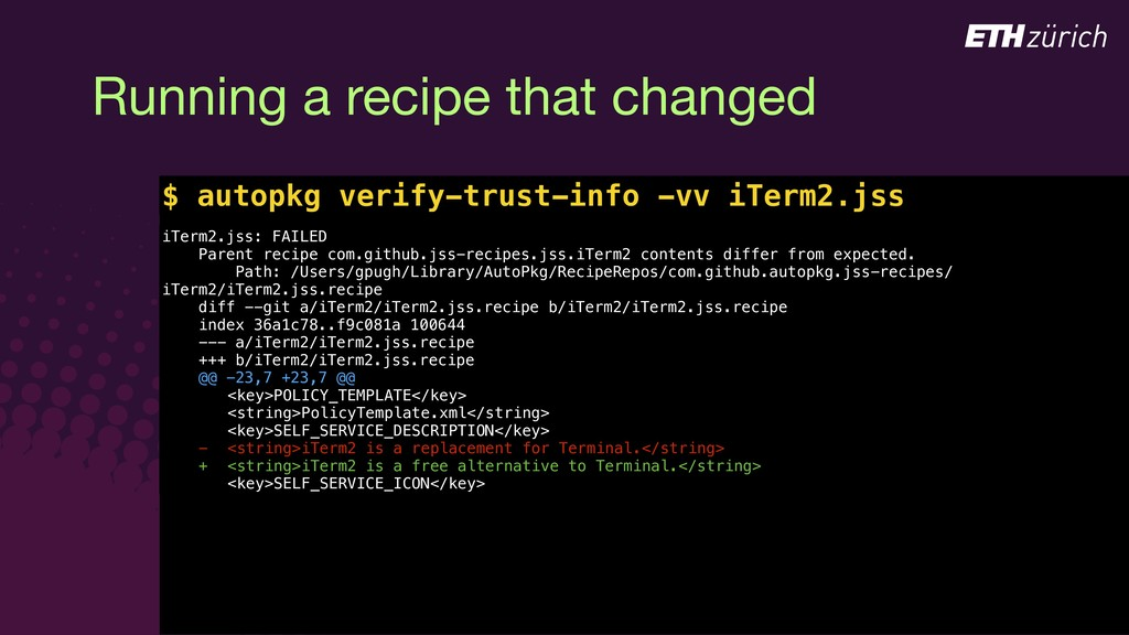 © JAMF Software, LLC Running a recipe that chan...
