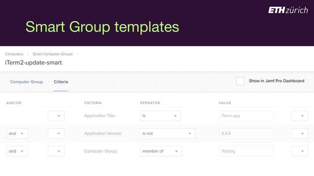 Smart Group templates